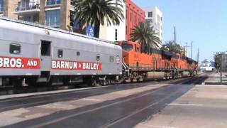 The Ringling Bros. & Barnum & Bailey circus train departs San Diego on 7/18/11!