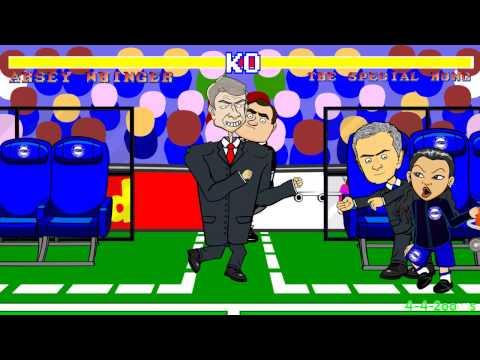 Wenger vs Mourinho FIGHT (Chelsea v Arsenal)