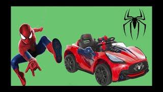 UNBOXING NEW SPIDERMAN Battery-Powered Ride On Super Car 6V Test Drive Playtime Fun Mason R. Toys