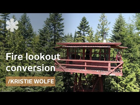 kristie-wolfe-turns-1950s-fire-lookout-into-off-grid-shelter