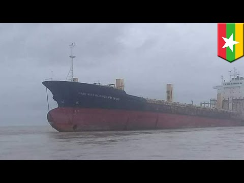 Officials investigate ghost ship floating off Myanmar coast - TomoNews