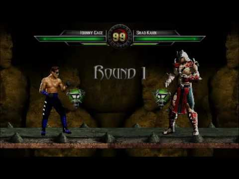 Johnny Cage vs. Shao Kahn   MK: Devastation