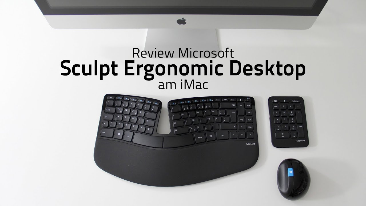Review Microsoft Sculpt Ergonomic Desktop am iMac