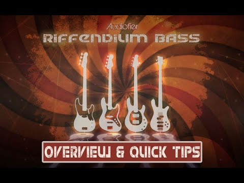 Audiofier RIFFENDIUM BASS Vol 1 (Funk/Soul) - Short Overview and Quick tips