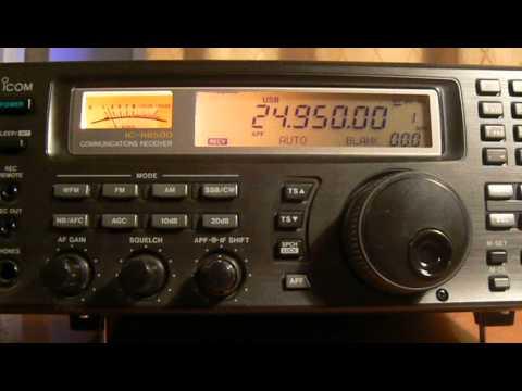 24950khz,Ham Radio,CX6DZ(Montes de Solymar Canelones,Uruguay) 16-40 UTC.
