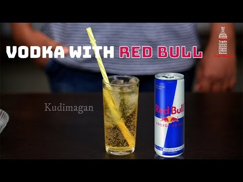 Vodka With Red Bull Cocktail | Simple Vodka Drinks