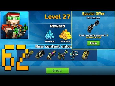 Pixel Gun 3D - Gameplay Walkthrough Part 62 - Level 27,Future Sniper Rifle