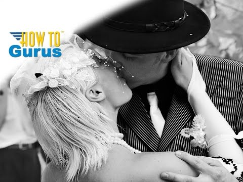 Photoshop Wedding Photo Editing : High Contrast Black and White : CC CS6 CS5 Tutorial
