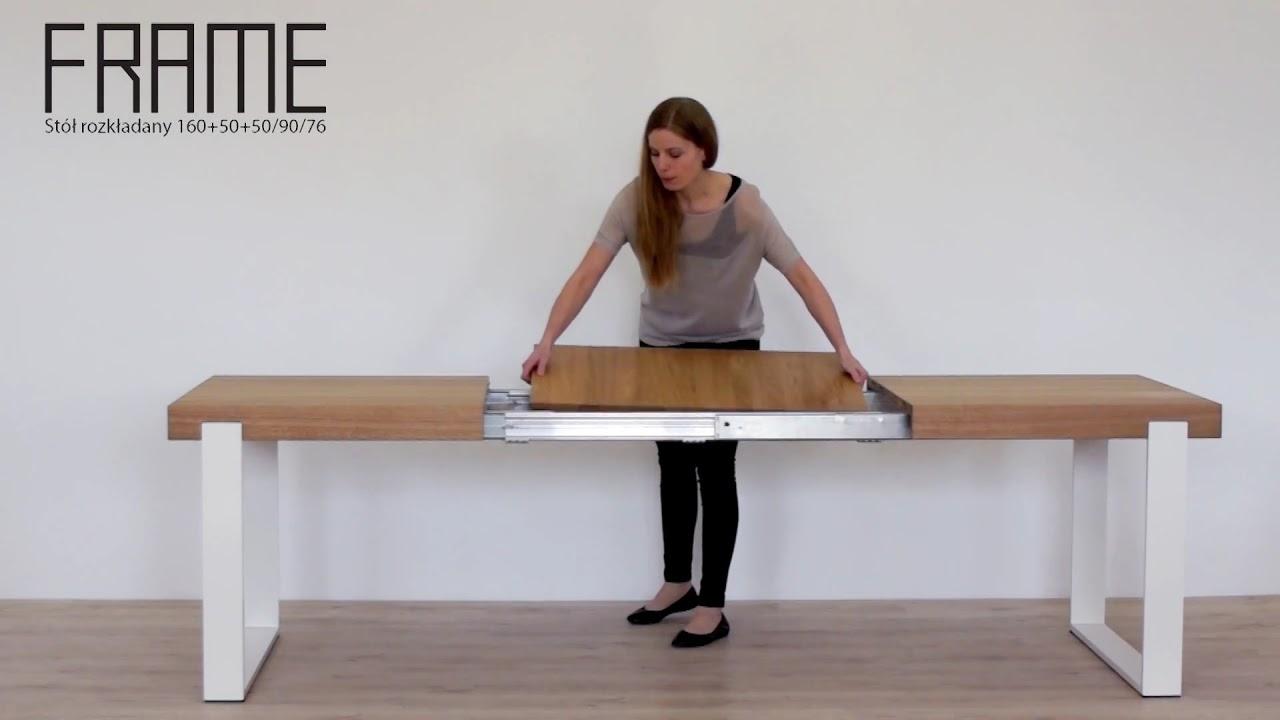 Miloni Stół Frame Drewniany Nowoczesny Stół Rozkładany Do Jadalni