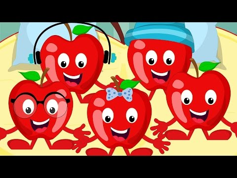 Five Little Apples  Kids Nursery Rhyme  Childrens Song   For Infants