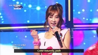 [Music Bank w/ Eng Lyrics] G.NA - Oops (Feat. Ilhoon from BTOB) (2013.04.27)