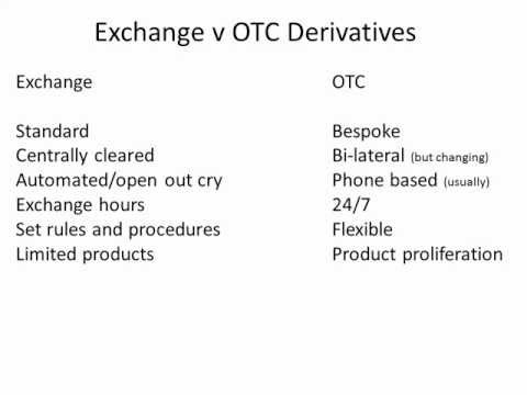 Exchange v OTC derivatives