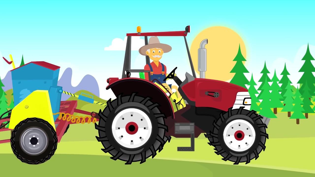 Kids Tractor Cartoon Video For Children Tractors For Babies