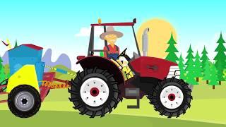 Red Tractor for Kids And bayby | Farm Works | sowing of grain | Czerony Traktor bajka o Rolniku 😁