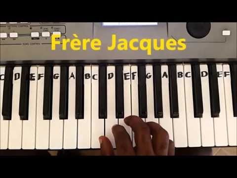 Frere Jacques Easy Piano Keyboard Tutorial - Are You Sleeping
