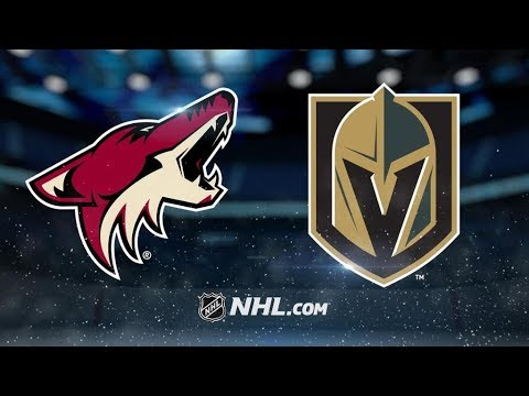 Arizona Coyotes Vs. Vegas Golden Knights | NHL Game Recap | October 10, 2017 | HD