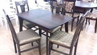Маленькие кухонные столы. Стол обеденный раскладной Джаз + стулья Юля.(Представляем Вашему вниманию #стол_обеденный раскладной Джаз. Стол производится в Украине. Доступен в..., 2016-09-28T12:17:24.000Z)