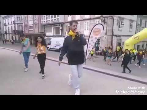 Flashmob tras la carrera 'Todos unidos contra el cáncer'