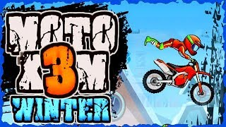 Moto X3M 4 Winter Game Walkthrough (All Levels)