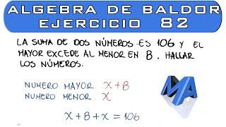 Solución del Ejercicio 82 Algebra de Baldor
