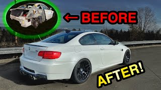 Rebuilding A Wrecked Salvage Auction 2011 BMW E92 M3 in MINUTES like THROTL