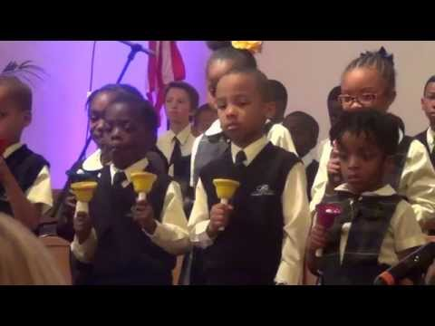 Crossroads Adventist School Handbell Choir & Trumpet Performed: Lo, He Comes. 05-16-15..