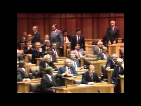 """THE QUANTUM LEAP"" F.W. de Klerk's Speech to Parliament - February 2, 1990"