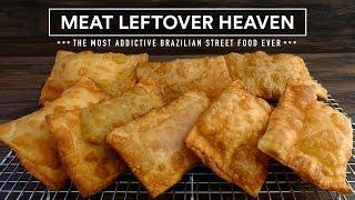 Leftover Meat? PASTEL aka Empanada, Brazilian Street Food Recipe!