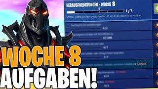 ALLE WOCHE 8 HERAUSFORDERUNGEN! Season 8 Woche 8 Aufgaben Fortnite Season 8 Herausforder ...
