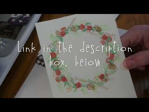 Show and Tell: My Christmas Cards & Sketch Book!!