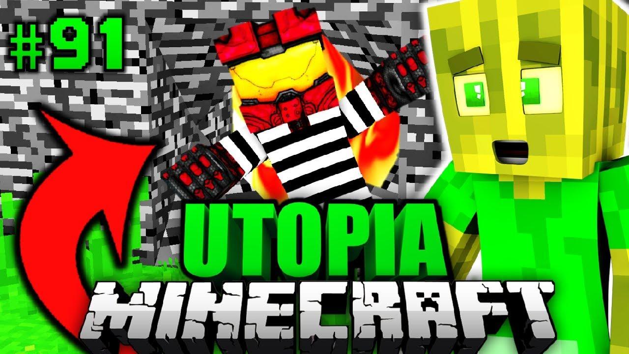 AUSBRUCH Aus BEDROCK GEFÄNGNIS Minecraft Utopia DeutschHD - Minecraft gefangnis spiele