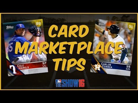 MLB 16 The Show Diamond Dynasty | MLB Community Card Marketplace Tips
