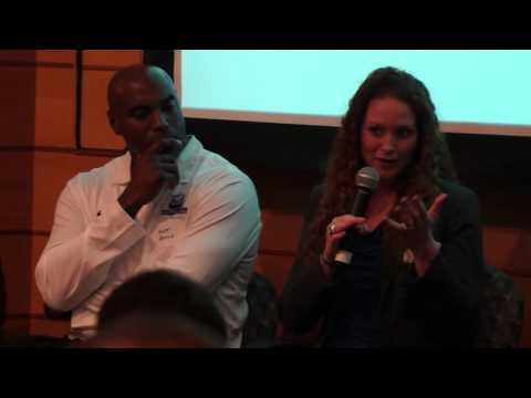 Scott Burrell and Kate Lynch at GNHCC Courtside Chat