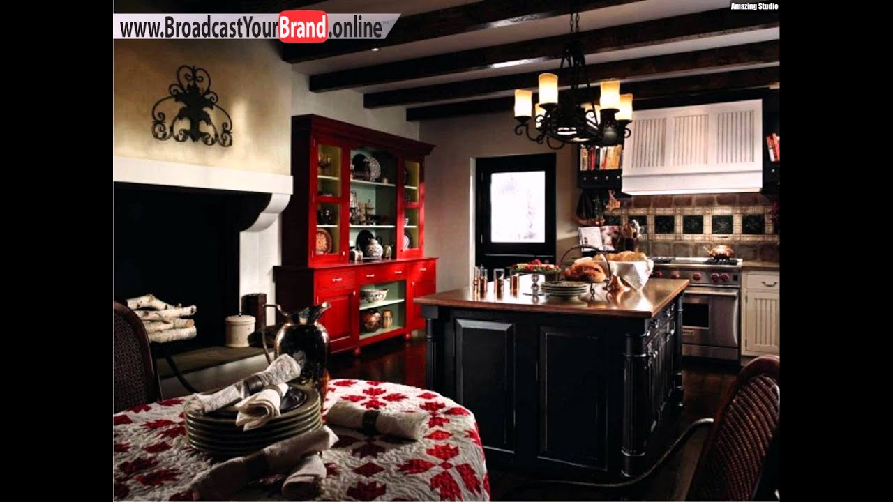 wohnideen k che franz sischer landhausstil schwarz wei roter schrank youtube. Black Bedroom Furniture Sets. Home Design Ideas