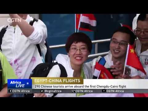 First direct flight from China has landed in Egypt