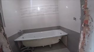 Запенили ванну Укладываем плитку Порог из ламината Закупаемся в Леруа Мерлен