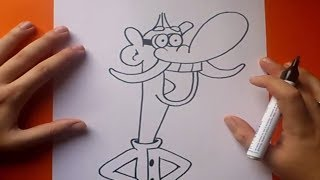 Como dibujar a Garbanzo paso a paso - Chowder | How to draw Mung Daal - Chowder