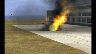 IL2 Pacific Fighters airfield attack (HD)