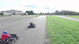 DJI Phantom 3 First Test Drive on a Car and Go-Kart racing event