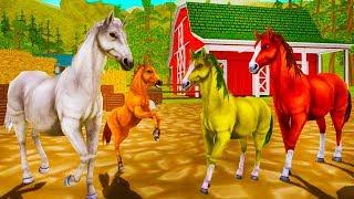 СИМУЛЯТОР МАЛЕНЬКОГО ПИТОМЦА #11 Лошади и маленькая Лошадка - Жизнь Зверей Онлайн #ПУРУМЧАТА