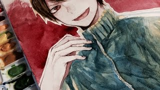 【リクエスト】実況者 キヨ描いてみた!【透明水彩】