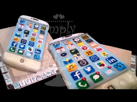 How to make an iPhone birthday cake YouTube