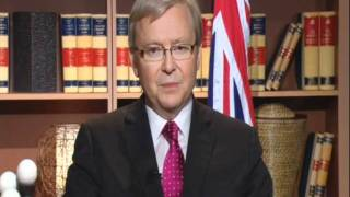 Minister Rudd discussing South Sudan