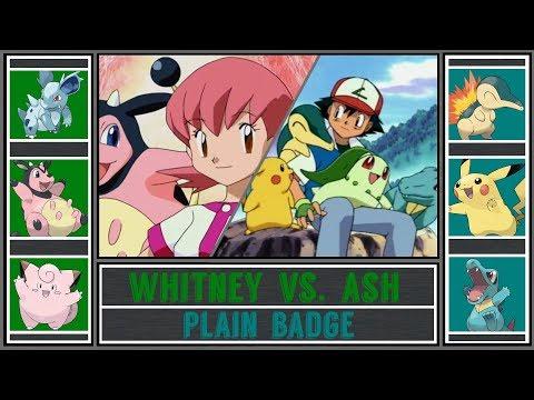 Ash vs. Whitney (Pokémon Sun/Moon) - Goldenrod Gym/Plain Badge - Johto Gym Battle