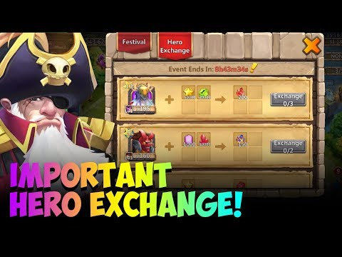 JT's F2P IMPORTANT Hero Exchange DONT MISS OUT! Pirates Booty Castle Clash