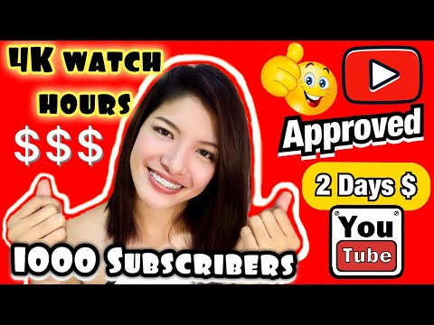 How I monetized my Channel in Just 2 months + how to reach 1000 subscribers and 4000 watch hours