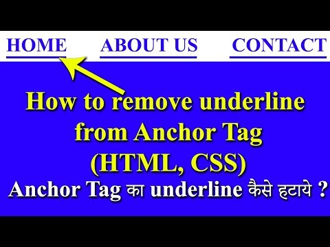 18. How To Remove Underline From Links, Remove Underline From A Tag In Html, Css Text Decoration
