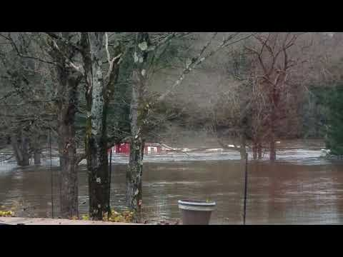Flooding Sweeps Away House in Poland, New York