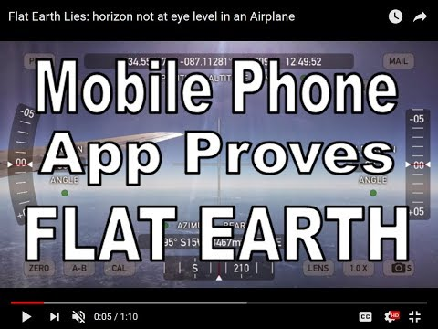 Mobile Phone App PROVES Flat Earth