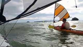 Kayak Sailing with Falcon Sails - October Lake Erie Thumbnail